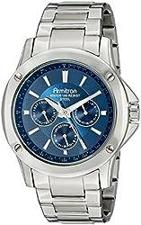 Armitron Men's 20/5073NVSV Multi-Function Dial Silver-Tone Bracelet Watch