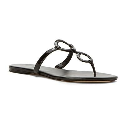 Women's Claudia Flat Sandal Black Patent Sandal 5 M