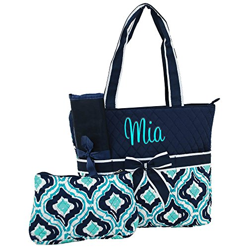 Quilted Diaper Bags Personalized - 1