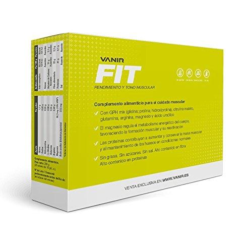 Vanir Fit, Aminoácidos GPH + Ácido ursólico + Aminoácidos libres + Magnesio - 20 sobres de sabor Kiwi-Piña de 10 g/c. u.: Amazon.es: Salud y cuidado ...