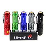 UltraFire® WF-68B 7W 300LM Mini CREE LED Flashlight Torch Adjustable Focus Zoom Light Lamp-5-Color
