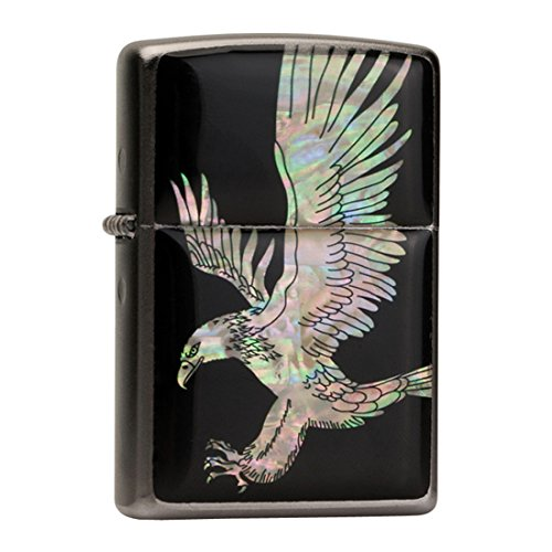 mother-of-pearl-handmade-american-eagle-wing-design-black-flip-top-windproof-metal-chrome-pocket-oil