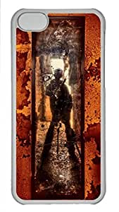 Cool Art You Shot A Hole In My Soul Hard Plastic Back Case Cover for iphone 5C Transparent (526 art) _619125