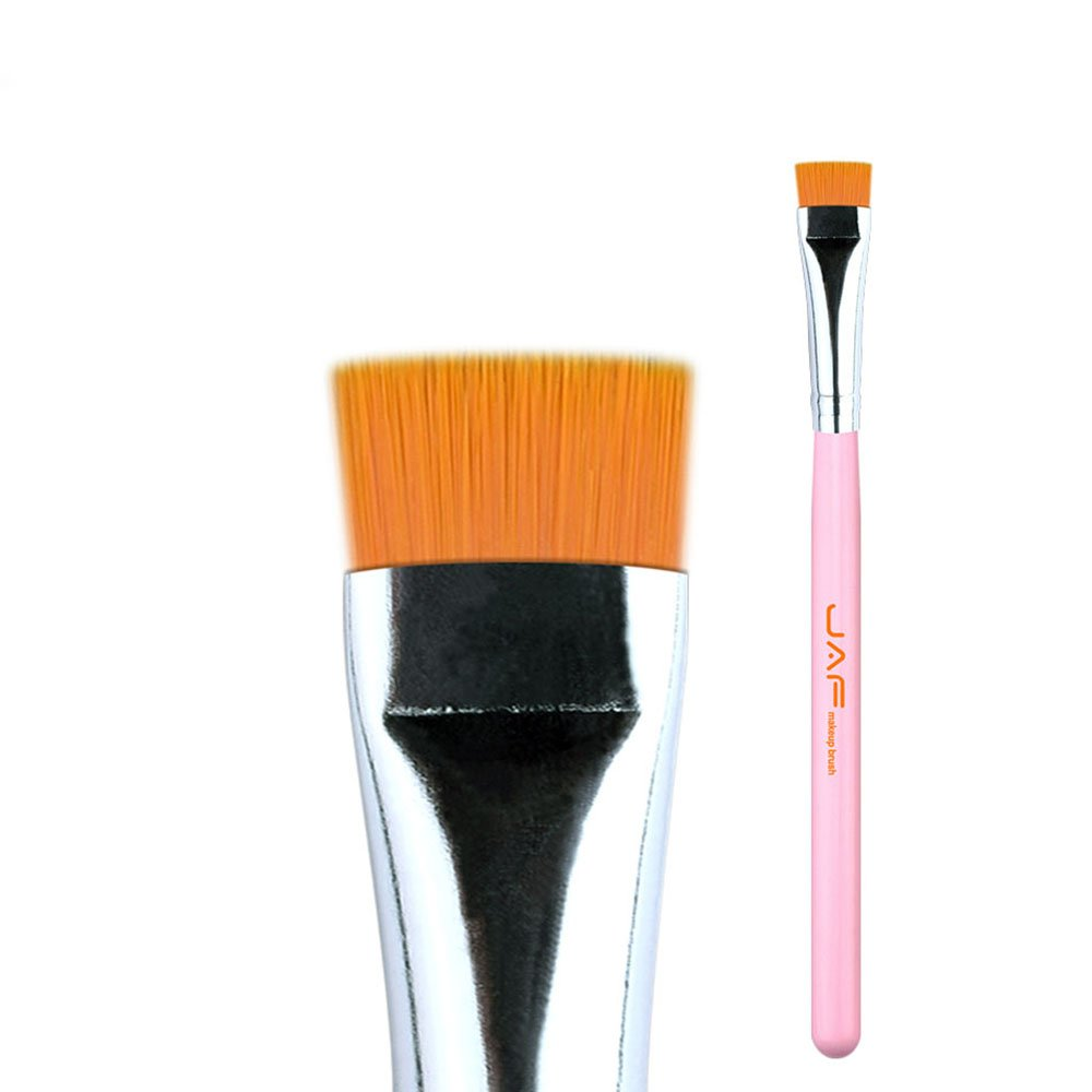 Makeup Brushes Flat Even Eyeliner Brushes Soft Stiff Synthetic Hair Suitable for Eye Liner Makeup L.P.L. (Color : Pink) by L.P.L.