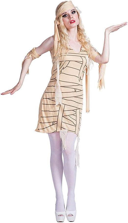 CAGYMJ Dress Party Mujer Vestido Cosplay,Momia Egipcia Sexy Falda ...