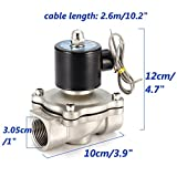 1 Inch Electric Solenoid Valve Stainless Steel for Water Gas Air 24V DC