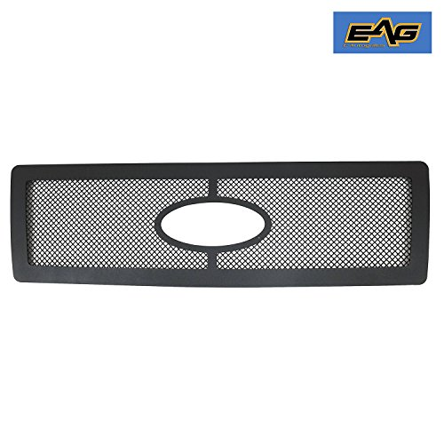 EAG 07-12 Ford Expedition Grille StainlessSteelWireMeshGrill - Textured Black
