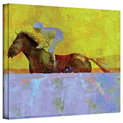 Art Wall 'Rising Steed' Gallery Wrapped Canvas Art By Greg Simanson, 24 By 32-inch