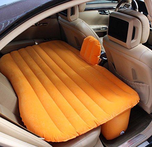 SED Car Lathe Car Inflatable Bed Machine Bed Lattice Carved Mattress Car Travel Bed Bed,Orange,135 90 -