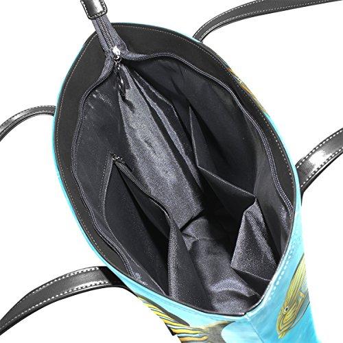 COOSUN Korallenriff und Fische PU Leder Schultertasche Handtasche und Handtaschen Tasche für Frauen p7H7eonCgO