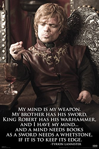 Pyramid America Game of Thrones Tyrion Quote TV Poster 24x36 inch