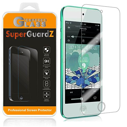 Ipod Touch Screen Cover ([2-Pack] For iPod Touch 6 (6th Generation) / 5 (5th Generation) - SuperGuardZ Tempered Glass Screen Protector, 9H, 0.3mm, 2.5D Round Edge, Anti-Scratch, Anti-Bubble)