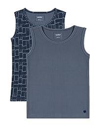 Antebies Boys Organic Cotton Super Soft Tank Top Waffle Knit Tagless Undershirts