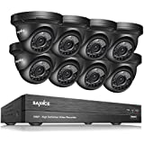 SANNCE 8CH 1080P CCTV DVR Security Camera System and 8pcs 1080P Metal Cameras Day/Night Vision, Motion Detection Email Alert (No HDD Included)