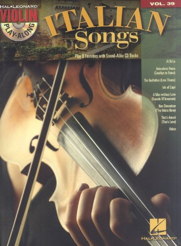 n Play-Along Volume 39 (Book/CD) (Italian Violin Music)