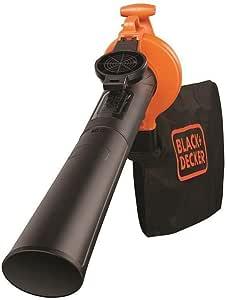 BLACK+DECKER GW2500-QS - Aspirador, soplador y triturador de hojas, 2500W, 310 Km/h