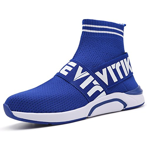 Littleplum Kids Fashion Flyknit Sneakers Running Shoes Breathable Outdoor Casual Sports Shoes Ultra Boost High-top Athletic Socks Shoes Walking Shoes