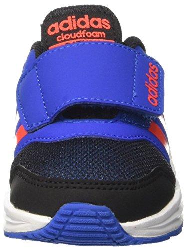 adidas Cloudfoam Saturn cm, Zapatillas Unisex Niños Negro (Cblack/solred/blue)