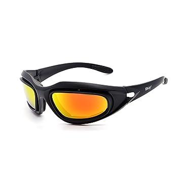 Shengyang polarizadas gafas 4 lente Hombres Militares gafas de sol a prueba de balas para practicar