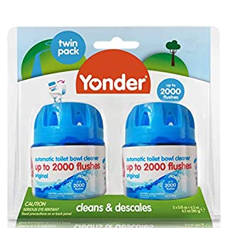 Yonder Original Automatic Toilet Bowl Cleaner | Cleans & Descales Cistern Tank, 2 Count