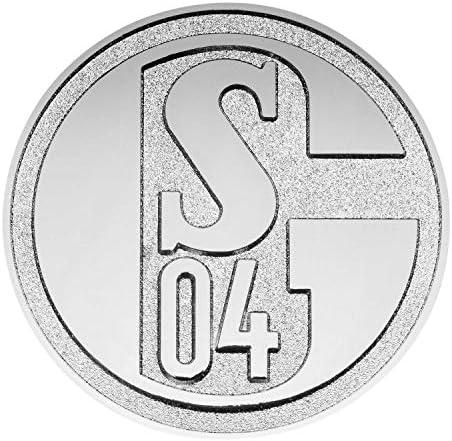 Fc Schalke 04 Chromlogo 3d Autoaufkleber Aufkleber Sticker S04 Plus Lesezeichen I Love Gelsenkirchen Sport Freizeit