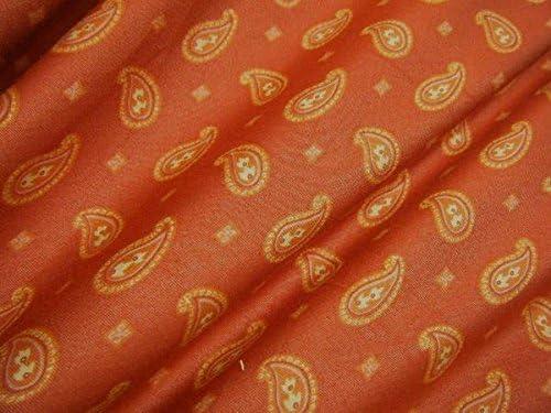581-1【 1m価格 】◆ 高級有名ブランド・メーカー生地 ◆ 綿 コットン ペイズリー プリント ≪ 日本製 国産 生地 服