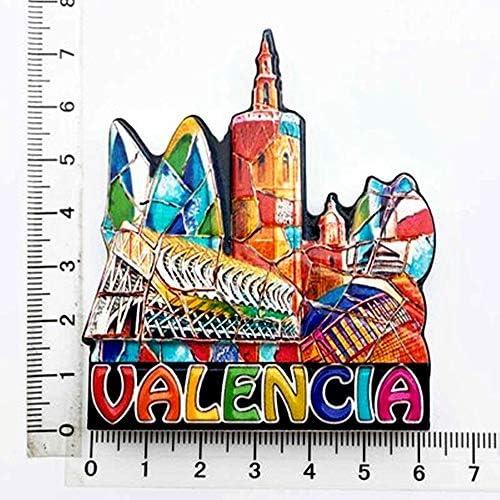 Imán para nevera Valencia España 3D, colección de regalos de recuerdo para el hogar y el gatito, decoración magnética, imán para nevera: Amazon.es: Hogar