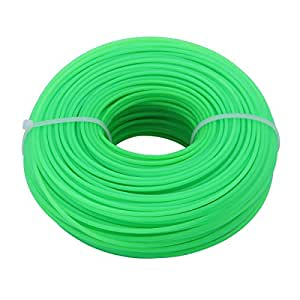 ounona 100M 2mm de repuesto para cortadora de césped, redondo nailon desbrozadora Line (verde)