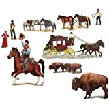 "Beistle 52039 Printed Wild West Character Props, 13"" to 4' 4"", 9 Pieces In Package"