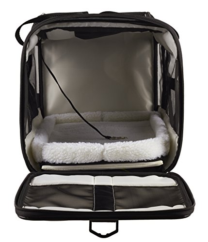 Caldwells-Pet-Supply-Under-Seat-Airline-Pet-Carrier-with-2-Bolster-Beds-for-Small-Dogs-and-Cats