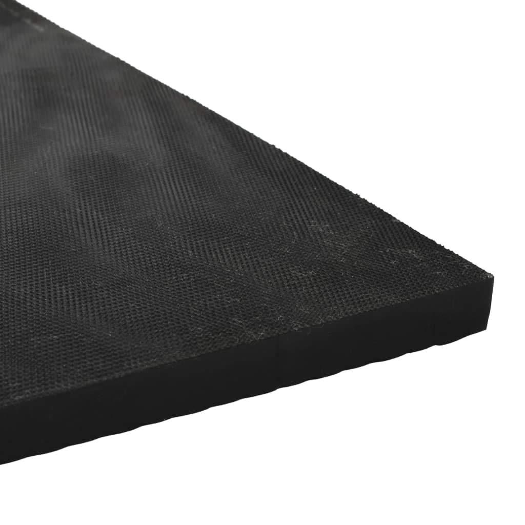 Bodenmatte rutschfest Gummi Gummimatte Schutzmatte 1,5 x 4 m 3 mm Breite Rippen Festnight
