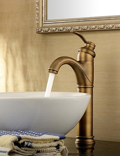 Waschbecken Wasserhahn antik inspirierte Design-antique brass Wasserhahn Einhand