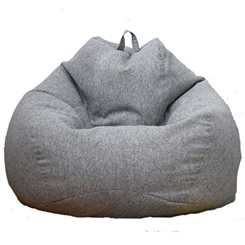 D DOLITY Adult Size Large Classic Bean Bag Chair Cover Bedding Clothes Stuffed Animal Toys Storage Bag - Gray by D DOLITY