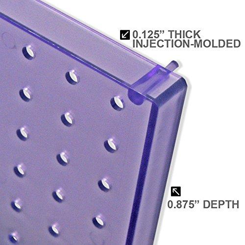 13.5 X 22 Blue Pegboard Organizer Kit Mounting Hardware 70 Piece Set Wallpeg