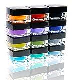 eye liner stilla - SHANY Cosmetics SHANY Masquerade Eyeliner Gel Color Smudge Proof Set, 12 count