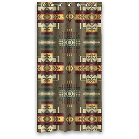 Vintage Design New Style Pendleton Chief Joseph Polyester Bathroom Shower Curtain 36Wx72
