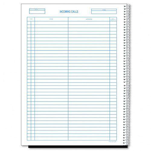 Incoming/Outgoing Call Register,100 Shts/Bk, 11 quot;x8-1/2 quot;, (Outgoing Call Register)