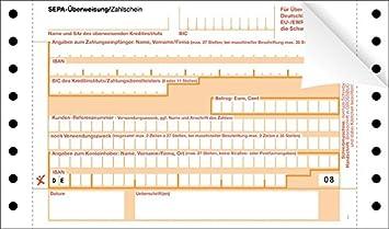 500 SEPA-Überweisung/Zahlschein endlos, neutral: Amazon.de ...