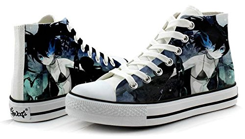 Noir Rock Shooter Cosplay Chaussures Toile Chaussures Sneakers Coloré 4 Choix Photo 2