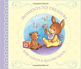 Moments To Treasure: Baby Album and Record Book with Keepsake Memory Box