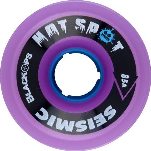 爆弾慎重にペインSeismicホットスポット66 mm 85 A Tran。パープル/ブルーSkateboard Wheels ( Set of 4 )