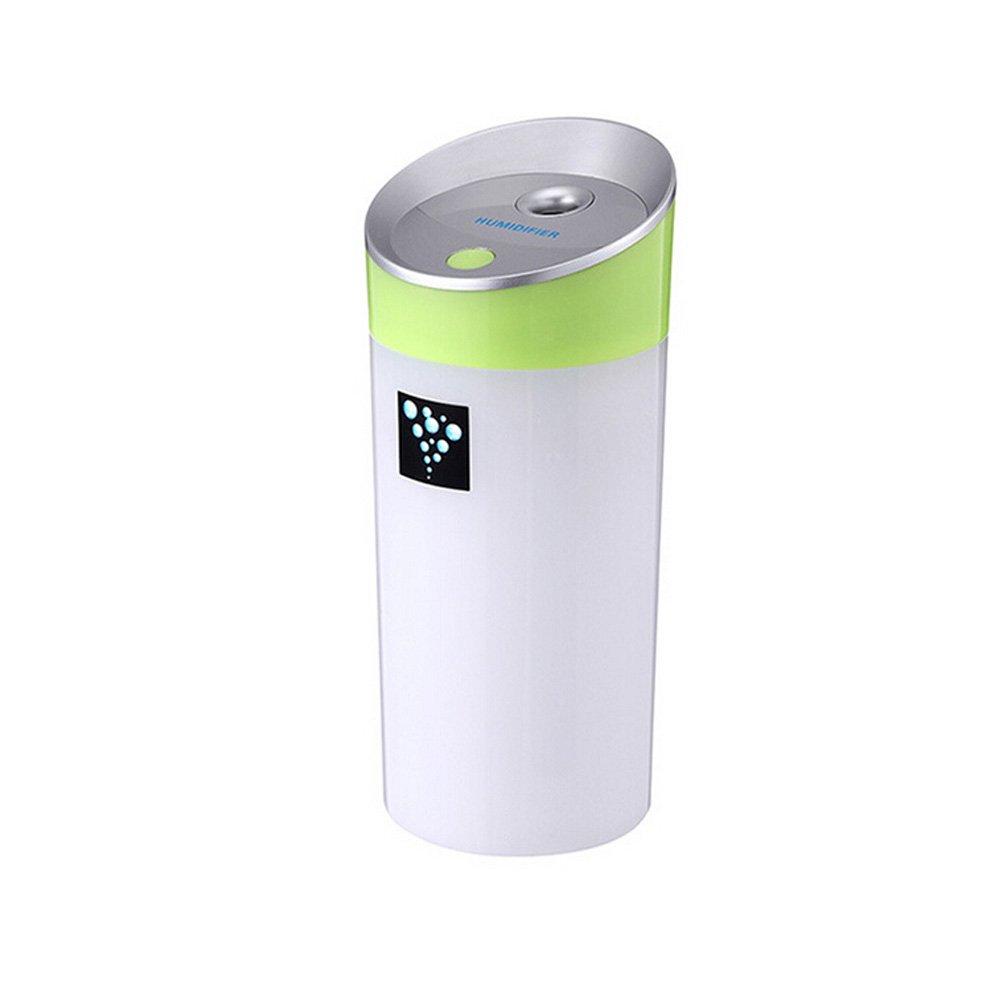 加湿器 家庭用加湿器 人気 空気清浄機 卓上加湿器 ポータブル ホーム オフィス 自動車シャットオフ用 ミストメーカー 加湿器 usb 車載 インテリジェント 2つの霧モード (グリーン) B0776X7RB8  グリーン