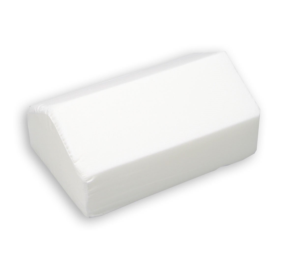 Leg Lifter Cushion - Removable Washable Cover - White - 7 Inch Lift - Small - Gentle Lift, Reduce Pressure, Improve Leg Ciculation - By Hermell Products