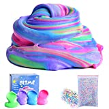 Toys : Fluffy Slime Supplies - AUNOOL 7 OZ Fluffy Floam Slime Scented Stress Relief Toy for Kids, Super Soft Non Sticky without Borax (4 Pack)