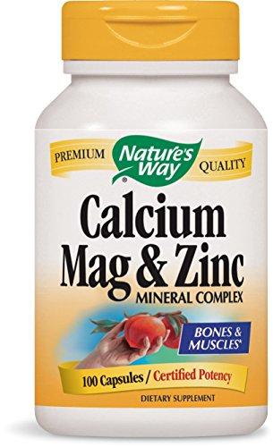 Nature's Way Calcium,Magnesium,Zinc Capsules, (Calcium Magnesium Zinc 100 Capsules)