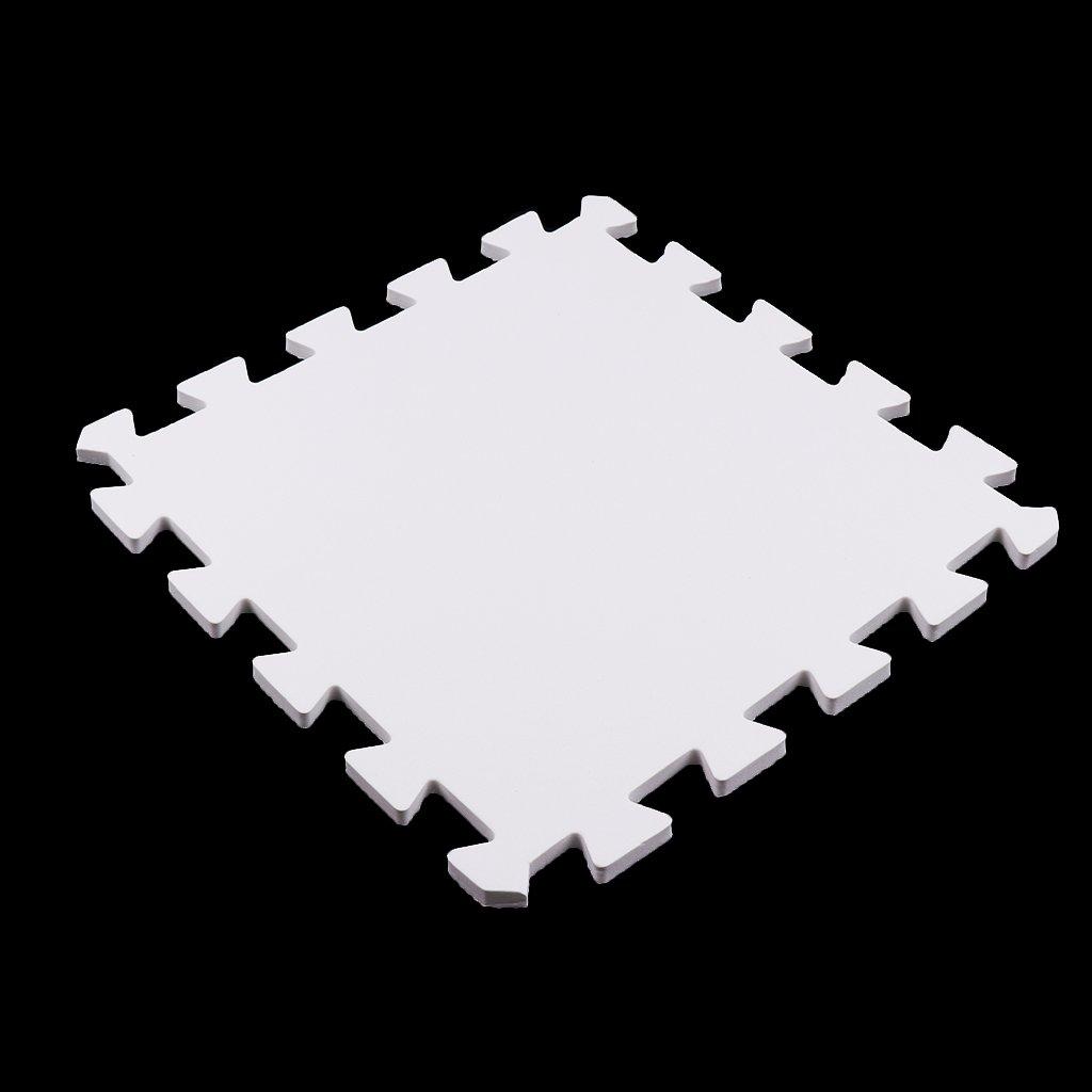 Alfombrilla De Ejercicio De 9 Baldosas Espuma S/ólida EVA Puzzle Playmat Kids Safety Play Alfombrilla Amarillo como se describe