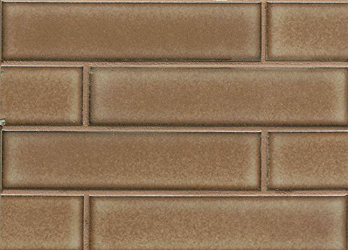 Bedrosians DECSHIPLA28ST ''Shizen Series'' Staggered Joint Mosaic, 2'' x 8'', Plateau