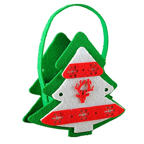 Willsa Cute Exquisite Christmas House Candy Bead Bag Christmas Santa Claus Snowman Gift Decor ()