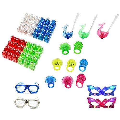 WESTENCAT Finger Lingt Beams Light up Toys 63pcs Mini Magic Led Laser Party Finger lights for Adults and Kids