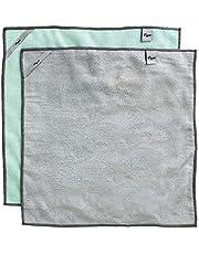 VIGAR Verpakking met 2 stuks, microvezelmateriaal, super absorberend en zacht, grijs en groen, medium.